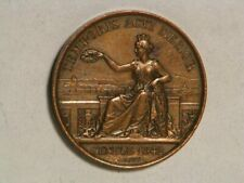 SWITZERLAND MEDAL 1842 Geneva Lawyers & Conseillers 25mm Bronze XF  6.2 gram