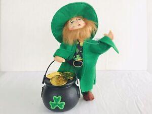 "Annalee Leprechaun's Gold St Patricks Irish Figure Doll~Pot O Gold~7"""