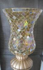 PartyLite Windlichtglas **Mosaic, gold**  ++Neu/Ovp++ u. Teelichthalter Simplex