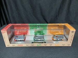 CUSTOM RAW POLISHED M2 1960 VW DELIVERY VAN TW06 CHASE SET 1/1 COKE SPRITE FANTA