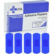 JFA Blue Large Strip Plasters 22x72mm 100 Plasters per Pack