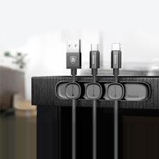 Organisateur de Câbles Cordon Usb avec 3 Clips Magnétiques, Rangement Cable Neuf