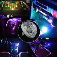 1x Mini Car Interior Atmosphere Neon Lights Colourful LED USB RGB Decor DJ Lamp