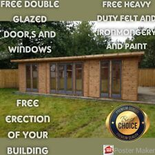 Summer house  home office mancave  26x 7ft         ERECTED FOR FREE