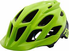 Fox Racing Flux Helmet: Creo Flo Yellow SM/MD