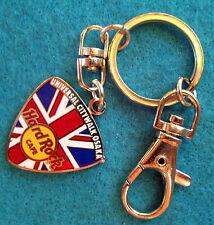 UNIVERSAL OSAKA BRITISH UNION JACK FLAG GUITAR PICK KEYCHAIN Hard Rock Cafe