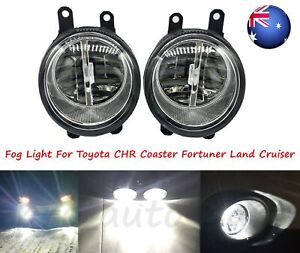 AU Pair LED Fog Light Lamp For Toyota CHR Coaster Fortuner Land Cruiser Prado
