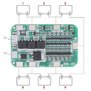 PCB BMS Protection Board For 6 Pack 18650 Li-ion Lithium Battery Cell Module_cd