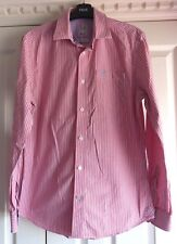 Crew Clothing Pink with White Stripe Cotton Mens Shirt. Size Small. Superb