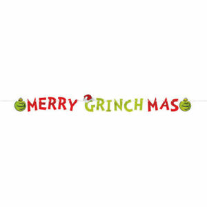 CHRISTMAS GRINCH FOIL LETTER BANNER MERRY GRINCHMAS HANGING PARTY DECORATION