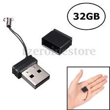 32GB USB Mini Negro Memory Memoria Stick Pen Flash Drive Thumb U Disk Acollador