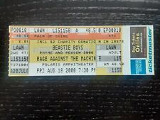 Beastie Boys and Rage Against The Machine ticket from Polaris Amphitheater 2000