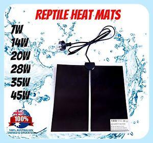 INFRARED REPTILE HEAT MAT 5W 7W 14W 28W 35W 45W AUS Plug  Brooder Incubator Pet