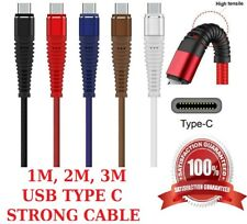 HTC U11 LIFE STRONG USB CHARGING CABLE USB TYPE C BRAIDED STRONG CHARGER WIRE
