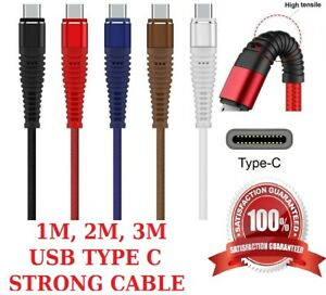 Huawei NOVA 5T USB CHARGING CABLE USB TYPE C BRAIDED STRONG CHARGER WIRE