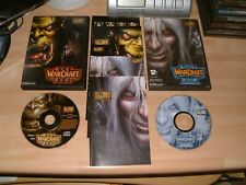 WARCRAFT 3 III REIGN OF CHAOS + FROZEN THRONE EXPANSION ... PC/MAC CD ROM GAMES