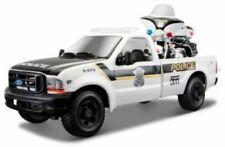 MAISTO 1999 FORD F-350 1:27 & 2004 FLHTPI HARLEY DAVIDSON 1:24 POLICE DIECAST