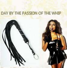 Black Adult Unsiex Men Women Sex Toys SM Whip with Tassels Couples' Flirt Tool Y