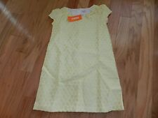 NWT Gymboree Ivory Yellow Dot Jacquard Dress Size 10