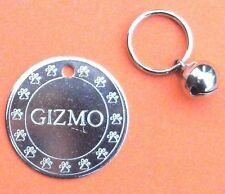 SUPER PROMO LOT DE 3 Médailles gravée pour chien - 30mm nickel + bordure +grelot