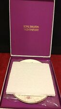 Royal Doulton Valentine's Day Bone China Plate 1976 Collector Box Certificate