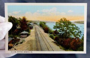 Berwick, PA - D L & W Railroad Station - Train Depot