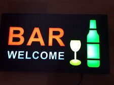 TOP QUALITY RESIN LED BAR WELCOME SHOP SIGN DISPLAY WINDOW LIGHT