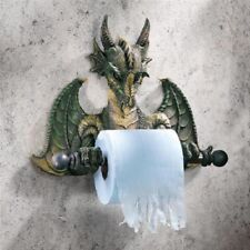 Medieval Mystical Dragon Toilet Paper Holder Gothic Beast Tp Wall Sculpture New