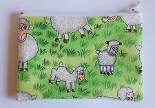 Funny Farm Sheep Fabric Handmade Zippy Coin Purse Storage Pouch