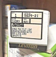 K Leviton Single Pole Pilot Light Grounding Rocker Switch 5629 2i Box Of 5