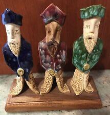 Vintage Three Kings- 3 Wise Men- Hand made Ceramic Figurine