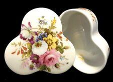 Hammersley~Howard Sprays~Bone China~Floral~Gold~Trinket~Vanity~Dresser Box~Gift!
