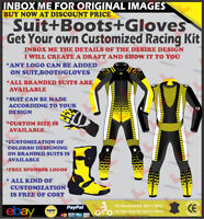 MOTORCYCLE SUIT MOTORBIKE RIDING LEATHER RACING STREET CUSTOM Suit Boots Gloves