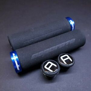 MTB Lock On Grips Foam/Contour Single Clamp End Plugs Red/Gold/Blue/Silver/Black