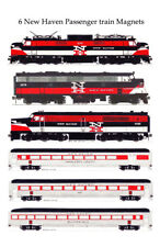 New Haven EP5, PA1, FL9, Passenger Cars set of 6 magnets by Andy Fletcher