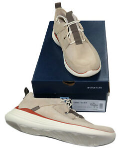 Cole Haan Grand Sport Suede Men's Fashion Sneakers 9.5 Sesame- Store Display