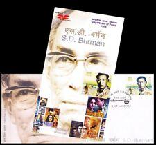 Singer, Composer, Musician, Folk Artist - S D Burman, India 2007 FDC + Brochure