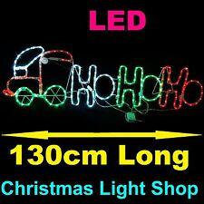 Red Green White LED HOHOHO Ropelight Train 130cm Outdoor Christmas Light Display