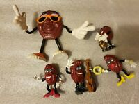 JOB LOT OF 5 VINTAGE CALIFORNIA RAISINS CALRAB 1987 band