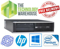 HP 6000 Desktop PC - Powerful Intel Dual Core CPU fast SSD and Windows 10 Pro 64