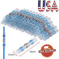 50X 16-14 gauge Wire Splice Connector Solder Sleeve Heat Shrink Butt Waterproof