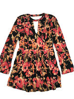 Free People Womens Tegan Mini Dress Floral printed Size 4 Summer