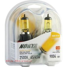 Nokya 9004 Hyper Yellow Headlight Fog Light Halogen Bulb 2500K S1