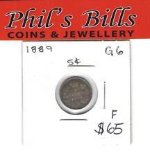1898   5 CENT GRADED F $ 65.00 G6