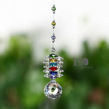 Clear Crystal Ball Suncatcher Prisms Hanging Pendants Window Home Car Decor 30mm