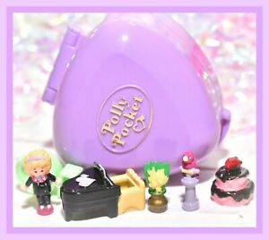 ❤️Polly Pocket VTG 1991 Perfect Piano Recital Ring Case COMPLETE Compact❤️