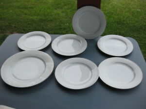Noritake BUCKINGHAM Pattern #6438 Set of 7 Total 6 Salad Plates & 1 Dinner Plate