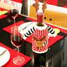 2Pcs Wine Bottle Cover Xmas Santa Table Decor Christmas Bottle Cap Party Gift