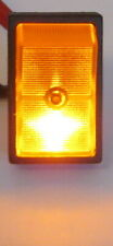 Illuminated Rocker Switch Spst 12v Dc 30a Lighted Amber Mount In 12