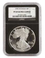 1995-W 1oz Proof Silver American Eagle PF69 NGC - Black Retro